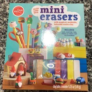 Klutz Make Your Own Mini Erasers. NWT.